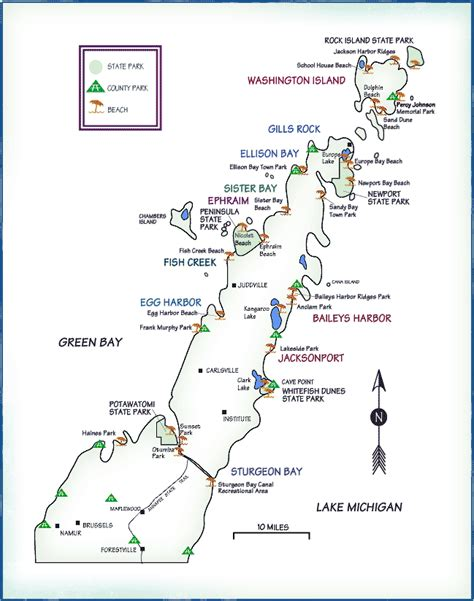 map of door county wi briskwalking in fall foliage wisconsin and connecticut