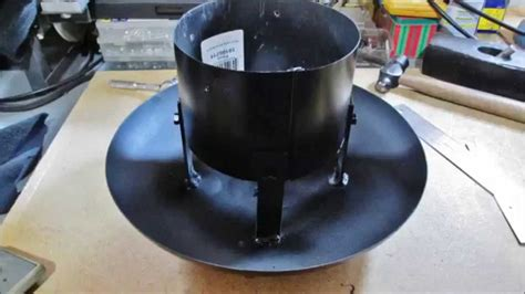 homemade rain cap    woodstove pipe youtube