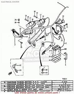 Yamaha Ycs1 1968 Usa Electrical System