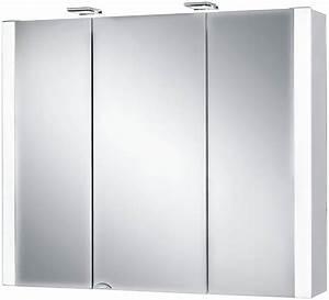 Spiegelschrank 100 Cm Led : jokey spiegelschrank jarvis breite 80 cm mit led beleuchtung online kaufen otto ~ Indierocktalk.com Haus und Dekorationen