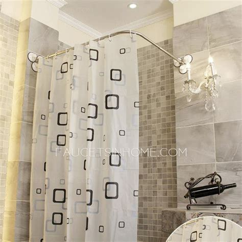 affordable  shaped white shower curtain rod  punch