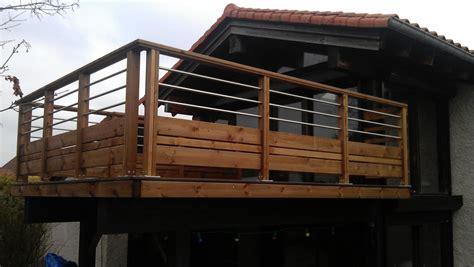 Aménagement D'un Balcon  Gardecorps En Pin  Riom 63