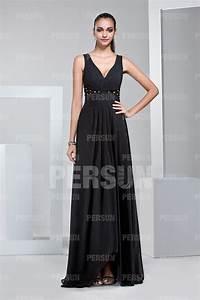 Robe Pour Invité Mariage : robe pour invit mariage col v empire noire longue ~ Melissatoandfro.com Idées de Décoration