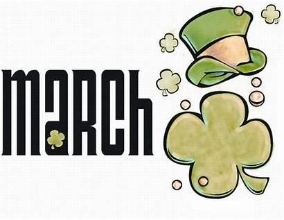 March Clip Calendar Clipart Shamrock Month Cliparts