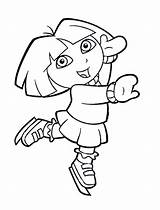 Coloring Skating Ice Pages Dora Colouring Print Printable Prints sketch template