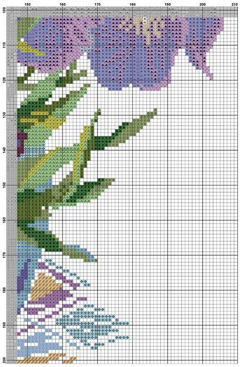 cross stitch pattern irises diy  ideas