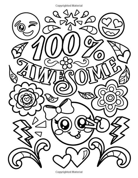 Coloring Quote Pics by Emoji Coloring Book For Of Stuff