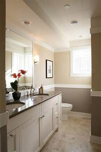neutral tones with buttercream paint bathroom traditional