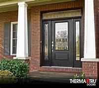 therma tru fiberglass doors Star Door & Pre-finished Dark Mahogany Fiberglass Front ...