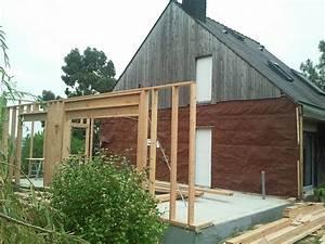 cout m2 extension ossature bois maxitravaux With prix pour extension maison