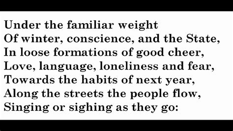 new year letter from quot new year letter quot by w h auden 28235