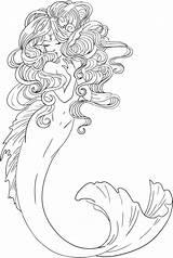 Merman Coloring Pages Colouring Mermaid Getcolorings sketch template