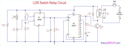 Ldr Switch Relay Circuit