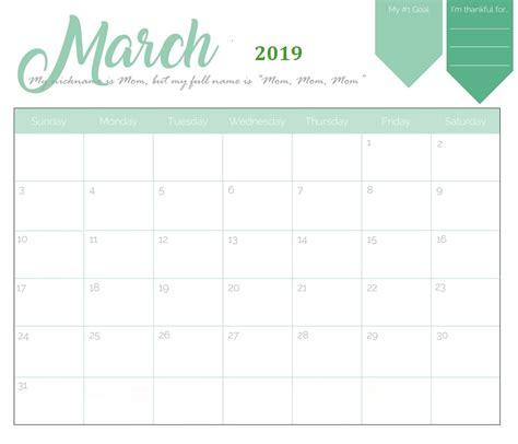 Calendar Template 2019 Free Printable 2019 Monthly Calendar Calendar