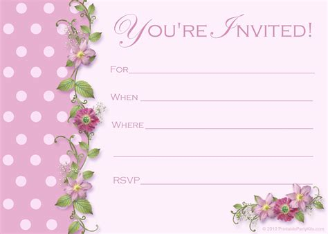 Birthday Blank Template by Image For Blank Birthday Invitations Templates Parties