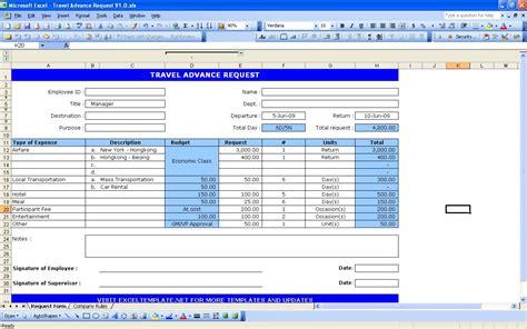 Excel Form Templates Travel Request Form Excel Templates