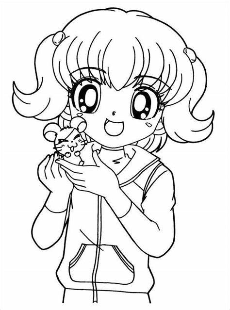 8+ Anime Girl Coloring Pages PDFAI Illustrator