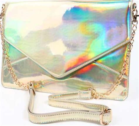 haute holographic handbags janelle clutch