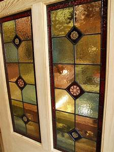 Pitch Pine Stained Glass Front Door