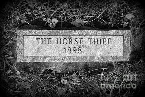 the thief grave marker print by catherine sherman