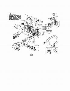 358 360260 Craftsman Gasoline Chain Saw 2 2 Cu  In  36cc 2