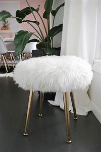 Make a Furry Stool (With Gold Legs) in Minutes! – A