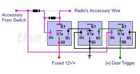 Relay Wiring Diagram Radio by Special Applications With Spdt Relays