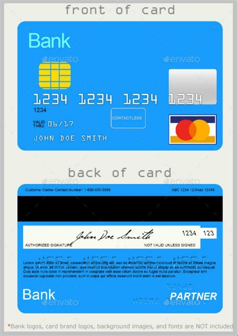blank credit card template unique  credit card designs