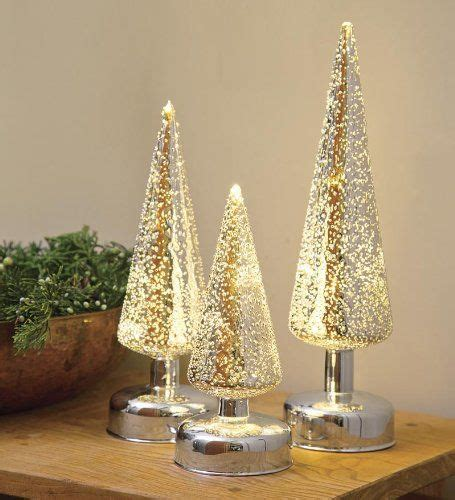glass light up christmas tree lighted silver glass christmas trees set of 3 tabletop