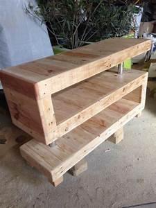 Meuble Tv Original : meuble tv original bois meuble oreiller matelas memoire de forme ~ Teatrodelosmanantiales.com Idées de Décoration