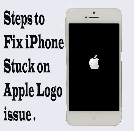 iphone stuck on apple logo steps to fix