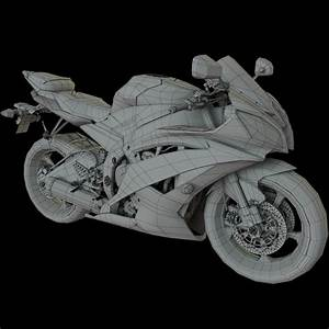 Yamaha R6 Motorcycle Engine 3ds