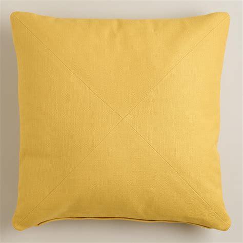 yellow throw pillow yellow herringbone cotton throw pillow world market