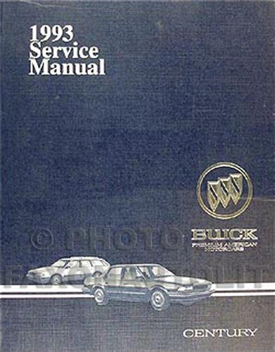 free car manuals to download 1993 buick coachbuilder on board diagnostic system 1993 buick century repair shop manual original