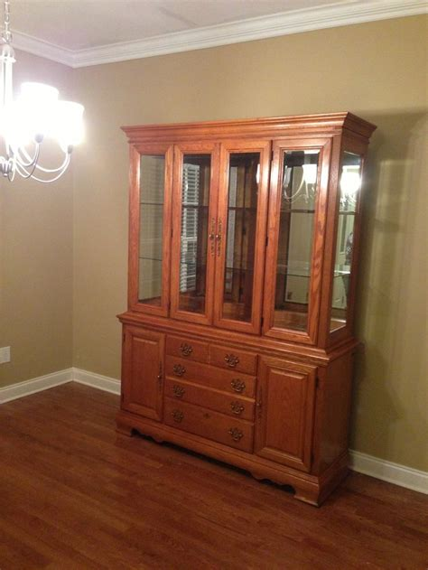 craigslist china cabinet solid oak american drew china cabinet i found of