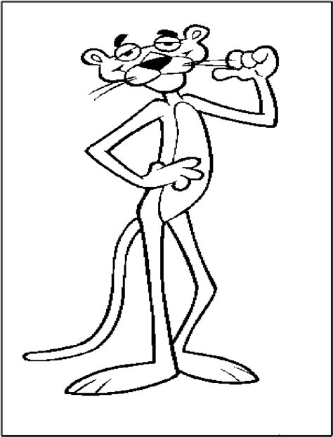 pink panther coloring pages  printable pink