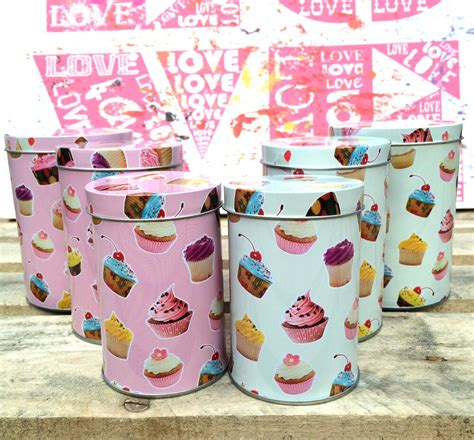 cupcake canisters for kitchen 3 x small cupcake canister set retro kitchen storage caddy