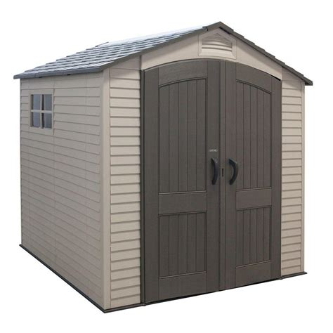 outdoor sheds home depot lifetime 7 ft x 7 ft economy storage shed 60014 the