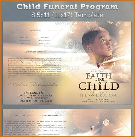 free funeral templates 11 free funeral program templates authorizationletters org