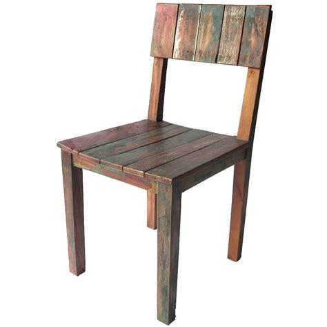 chaise en bois chaise bois couleur en teck recyclé coloré