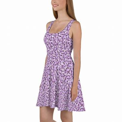 Purple Tropical Trendy Skater Flowers