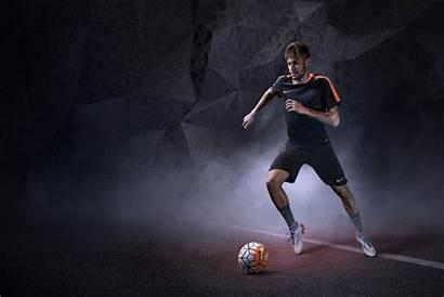 Soccer Ball Kick Close Photograph Football Nike