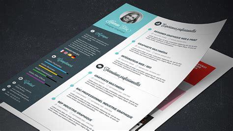 tutoriel cv graphiste template de cv graphique photoshop