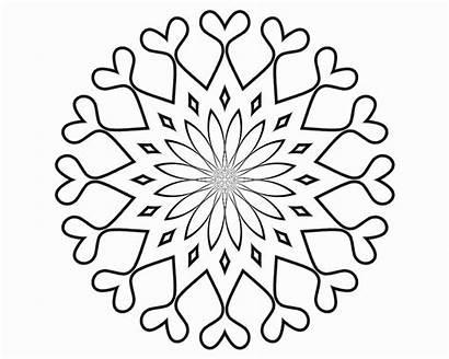 Mandala Coloring Pages Blank Easy Mandalas Printable