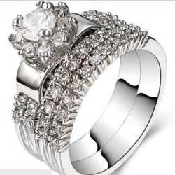 size 11 wedding rings aliexpress buy size 5 11 rhodium 925 sterling silver wedding engagement halo