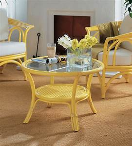Table Basse Rotin : table basse avec plateau verre en rotin brin d 39 ouest ~ Teatrodelosmanantiales.com Idées de Décoration