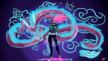 Kda Akali Wallpapers Neon Dragon Graffiti Desktop