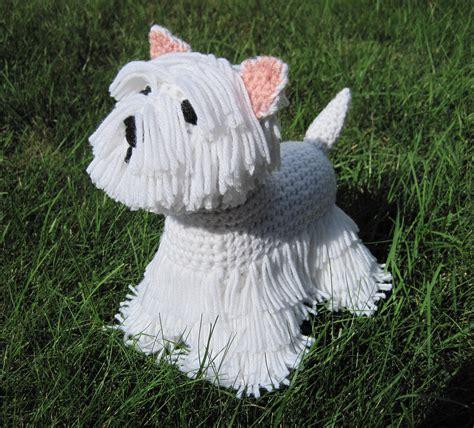 white chenille rug westie pdf crochet pattern digital