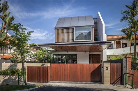 Semi-detached House In Singapore Interacting With The