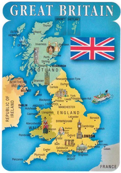 Carte Du Royaume Uni Sans Les Villes by Le De Lucien Pons